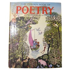 The Golden Book Of Poetry Illustrated Children's Book - Collectible Childrens Poems - Vintage Kids Books