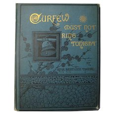 Curfew Must Not Ring Tonight Antique Book With Victorian Era Illustrations - Vintage Poetry Book - Book Lovers Gift