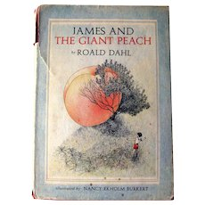 First Edition James and The Giant Peach Second Printing - Illustrated Kids Book - Collectible Books