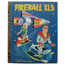 Fireball XL5 Little Golden Book First Edition - Space Age LGB - Science Fiction