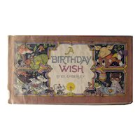 A Birthday Wish Vintage Picture Book Stated First Edition - Ex Library Childrens' Book - Birthday Gift