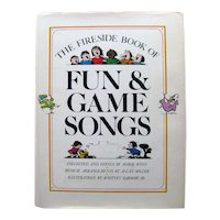The FIRESIDE BOOK OF FUN AND GAMES - Childrens Song Book - Vintage Kids Songs and Games