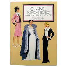 CHANEL Fashion Review Paper Doll Illustrated by Tom Tierney - Collectible Fashion Dolls - Haute Couture
