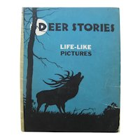 Stereoscopic 3D Book DEER STORIES - Vintage Stero Photographs - Early 3 Dimensional Book