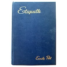 Emily Post ETIQUETTE Wartime Manners Book - Vintage Housekeeping and Norms - Collectible Homemaking Book