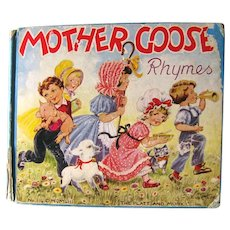 MOTHER GOOSE Nursery Rhymes With Illustrations by Eulalie - Nursery Decor - Baby Shower GIft