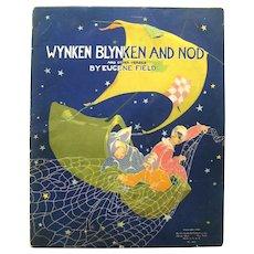 Fern Bisel Peat Illustrated Book WYNKEN BLYNKEN and NOD by Eugene Field - Nursery Rhyme Book