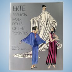 Erte Fashion Paper Dolls of the Twenties Uncut Paper Dolls