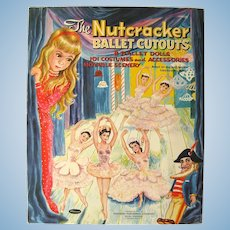 The Nutcracker Ballet Cutouts Vintage Paper Doll Book With Costumes Props and Scenes - Ballet Paper Dolls