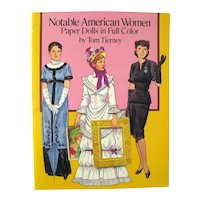 Notable American Women Paper Dolls By Tom Tierney - Vintage Paper Doll Book - Uncut Paper Dolls