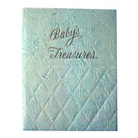 Baby's Treasures Early Days 1943 Baby Album and Scrapbook - Baby Shower Gift