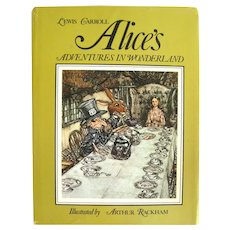 Lewis Carroll Alices Adventures In Wonderland  Illustrated by Arthur Rackham - Studio Press Edition with Color Illustrations - Collectible Books - Classic Childrens Books