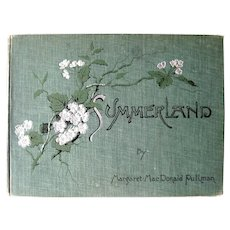 Summerland Illustrated Book 1890 - Antique Art Book - Landscape Drawings - Engravings