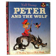 Peter and The Wolf Little Golden Book A Mickey Mouse Club Book - Walt Disney Studio Book