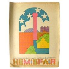 San Antonio 1968 HEMISFAIR Souvenir Supplement - Vintage Advertising - Worlds Fair