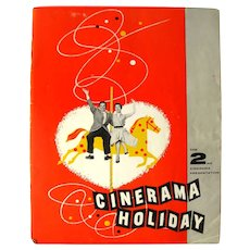 Cinerama Holiday Movie Making Program - Early Movie History - Film Buff Gift
