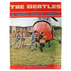 The BEATLES A Hard Day's Night Movie Program - Movie Memorabilia - Pop Culture