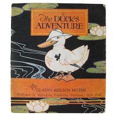 The Ducks Adventure Volland Book 1927 - Illustrated Children's Book - Gift Book