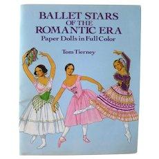 Tom Tierney Paper Dolls Ballet Stars Of The Romantic Era - Ballet Dancers - Dance Teacher Gift