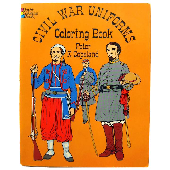 - Civil War Uniforms Dover Publishing Coloring Book, Uniform History, :  Openslate Collectibles Ruby Lane