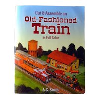 "DIY Train Model From Dover ""Old Fashioned Train Cut and Assemble"" - Model Train - Activity Books"