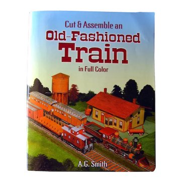 """DIY Train Model From Dover """"Old Fashioned Train Cut and Assemble"""" - Model Train - Activity Books"""