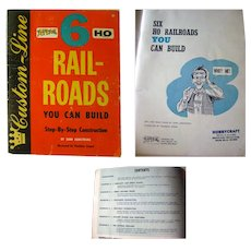 HO Railroad Set Up Design Book - Six HO Rail-Roads You Can Build Step by Step - Vintage Model Trains