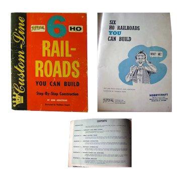 HO Railroad Set Up Design Book - Six HO Rail-Roads You Can Build Step by Step - Vintage Model Trains
