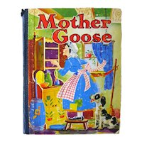 Mother Goose Rhyme Nursery Rhyme Book Whitman Publishing 1941, Collectible Children's Books