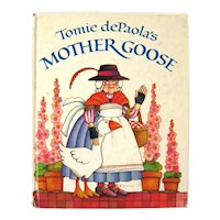 Tomie dePaola's Mother Goose Vintage Illustrated Book, Read Aloud Book, Book Collector