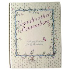 Grandmother Remembers Genealogy Book - Mother's Day Gift