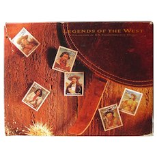 Stamp Collectors Book Legends Of The West - Wild West History - USPS Collector's Book