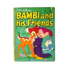 Bambi and His Friends Walt Disney Productions Golden Book 11562 - Vintage Childrens Book - Read Aloud Book