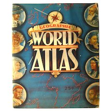 World Atlas Geographia 1930s Vintage Map Atlas - Alexander Gross
