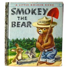 Little Golden Book Smokey The Bear First Edition - A Edition - Richard Scarry Illustrations - Collectible Books