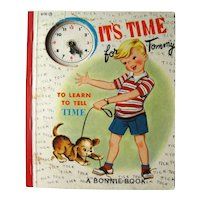 Its Time For Tommy To Learn To Tell Time Vintage Children's Book - Collectible Books