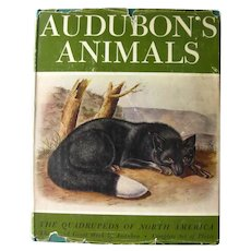 Audubons Animals Quadrupeds of North America - Vintage Nature Book