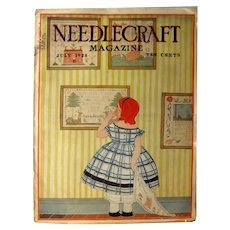 1920s Needlecraft Magazine July 1928, Vintage Craft Magazine,
