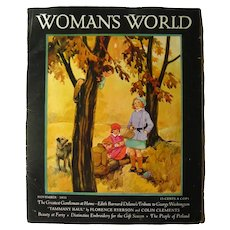 Womans World November 1931 Vintage Magazine - VIntage Advertising - Magazine Cover Art