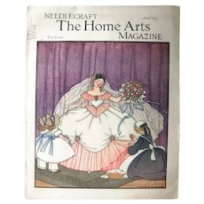 Vintage Needlecraft The Home Arts Magazine June 1935 - Magazine Cover Art by Mary Sherwood Wright Jones