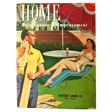 Home Maintenance and Improvement Magazine Summer 1954 - Mid Century Home Ideas