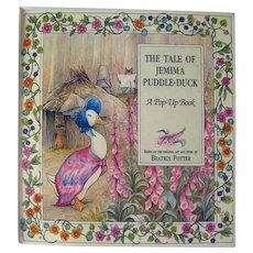 Pop Up Beatrix Potter Book The Tale Of Jemima Puddle-Duck Illustrated Kids Book, Popup Books, Collectible Books, Gift Book