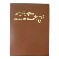 The Charles M Russell Book - American Western Art Book With Full Page Full Color Paintings