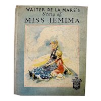 Story Of Miss Jemima Vintage Children's Book By Walter De La Mare 1935 - Read Aloud Kids Book