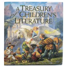 A Tresury Of Children's Literature - Illustrated Kids Book - Grimms Fairytales & More