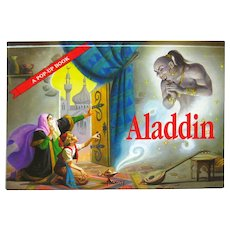 Vintage Pop Up Book Aladdin Tony Wolf - Mechanical Book - Collectible Books