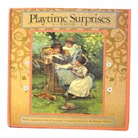 Playtime Surprises Mechanical Picture Book - Victorian Children Illustrations by Ernest Nister
