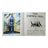 The Farmer In The Dell Rare Berta and Elmer Hader Illustrated Children's Book - Collectible Childrens Book