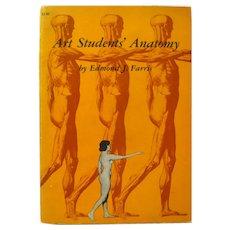 Art Students' Anatomy by Edmond Farris Vintage Art Book - Life Drawing Book