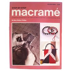 Step By Step Macrame The Craft Of Creative Knotting - Craft Book - DIY Book